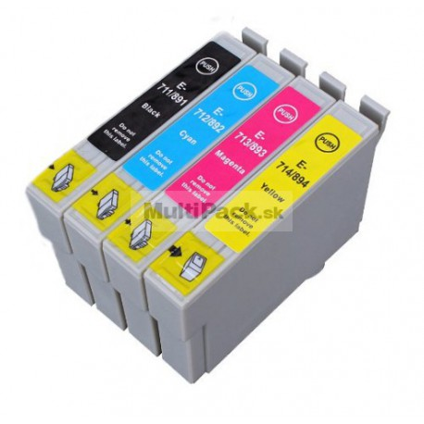(4pack) EPSON T0715 multipack - kompatibilné náplne do tlačiarne Epson