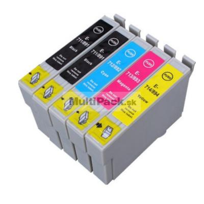 (5pack) EPSON T0715 multipack - kompatibilné náplne do tlačiarne Epson