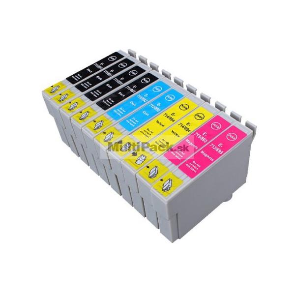 (10pack) EPSON T0715 multipack - kompatibilné náplne do tlačiarne Epson