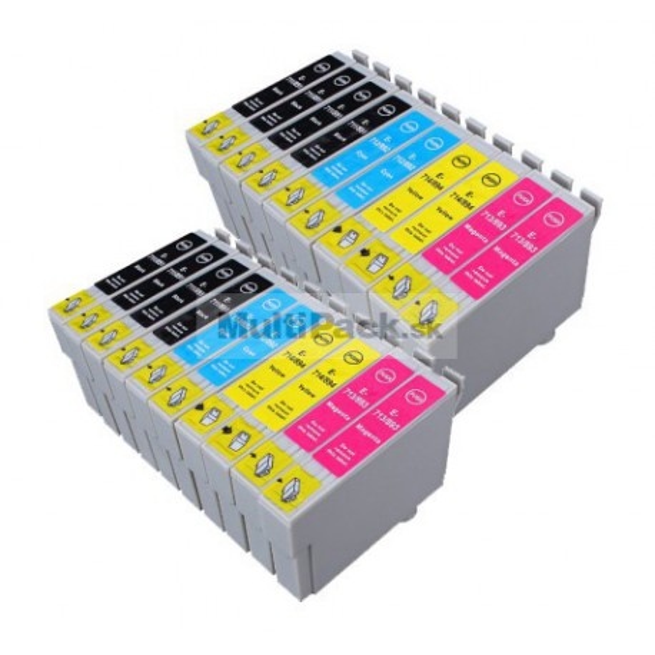 (20pack) EPSON T0715 multipack - kompatibilné náplne do tlačiarne Epson