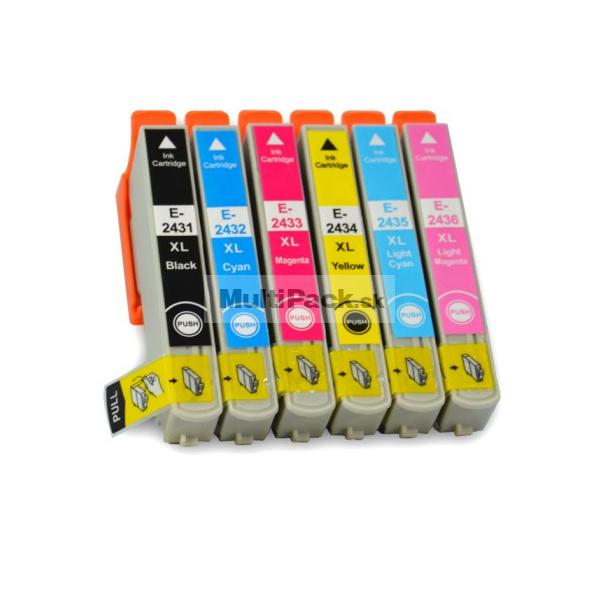 (6pack) EPSON T2438 multipack 24XL - kompatibilné náplne do tlačiarne Epson