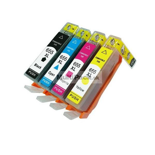 (4-pack) HP 655 multipack - kompatibilné náplne do tlačiarne HP