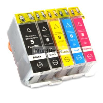 (5pack) CANON PGI-5 CLI-8 - multipack do tlačiarne Canon - kompatibilný