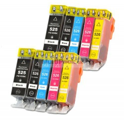 (10pack) CANON PGI-525 CLI-526 multipack do tlačiarne Canon - kompatibilný