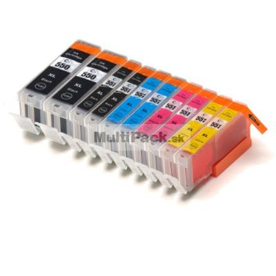 (10pack) CANON PGI-550 CLI-551 XL multipack do tlačiarne Canon - kompatibilný