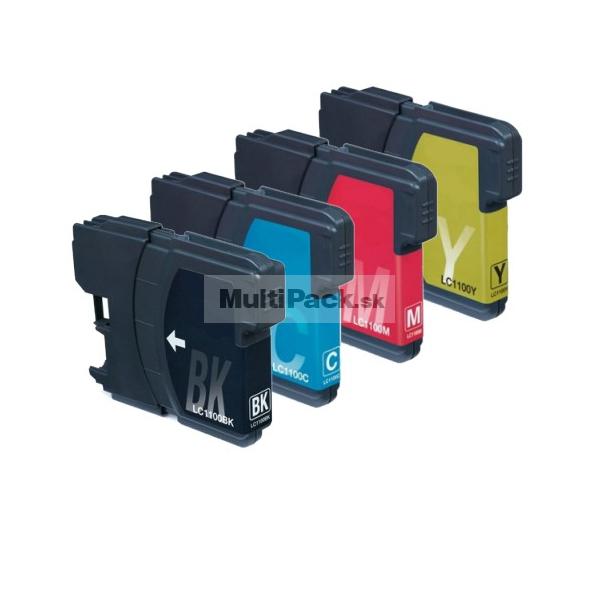 (4pack) BROTHER LC1100VALBP multipack - kompatibilné náplne do tlačiarne Brother