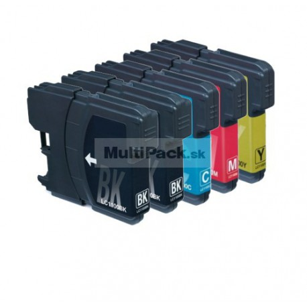 (5pack) BROTHER LC1100 VALBP multipack - kompatibilné náplne do tlačiarne Brother