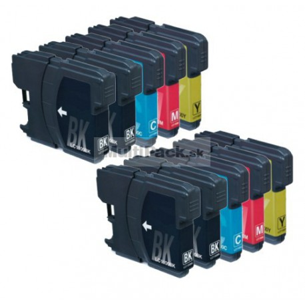 (10pack) BROTHER LC1100 VALBP multipack - kompatibilné náplne do tlačiarne Brother