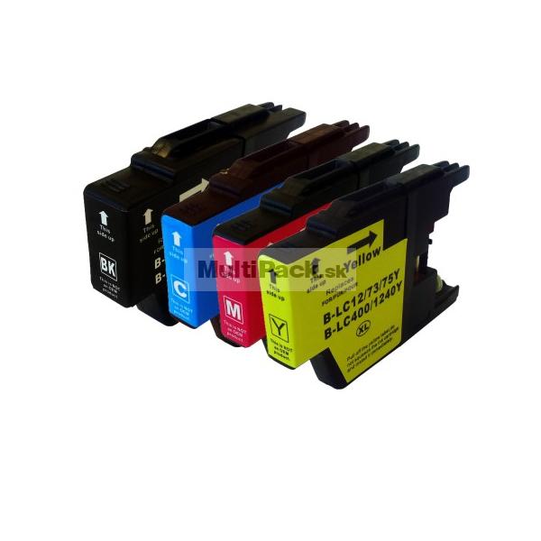 (4pack) BROTHER LC1240VALBP multipack - kompatibilné náplne do tlačiarne Brother