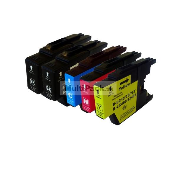 (5pack) BROTHER LC1240 VALBP multipack - kompatibilné náplne do tlačiarne Brother