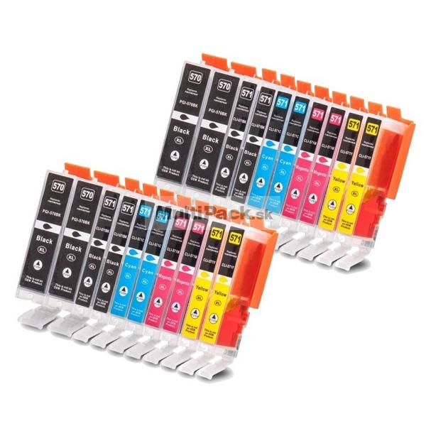 (20pack) CANON PGI-570 CLI-571 XL multipack do tlačiarne Canon - kompatibilný