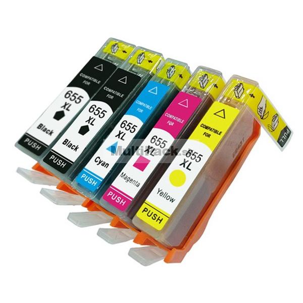 (5-pack) HP 655 multipack - kompatibilné náplne do tlačiarne HP