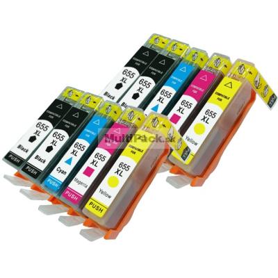 (10-pack) HP 655 XL multipack - kompatibilné náplne do tlačiarne HP