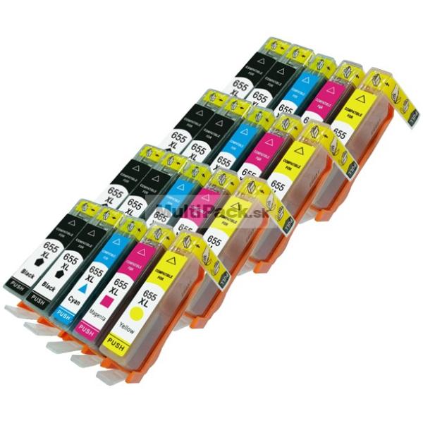 (20-pack) HP 655 XL multipack - kompatibilné náplne do tlačiarne HP